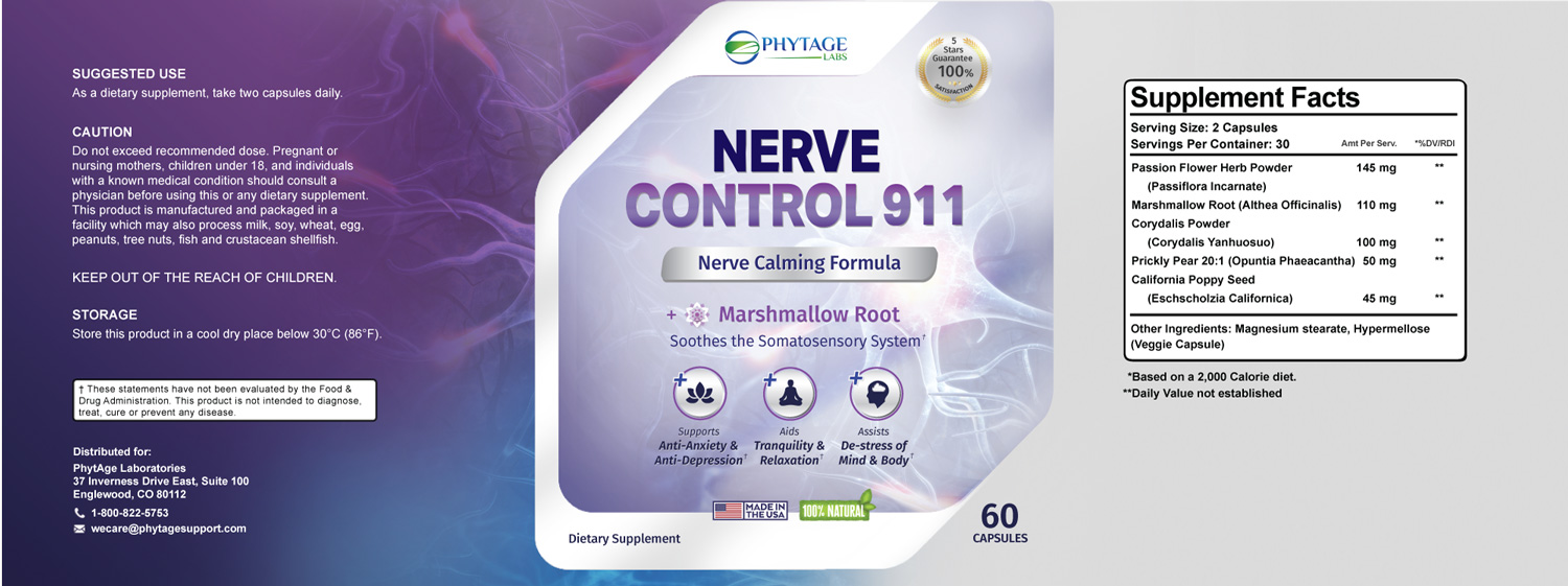 nerve control 911 ingredients